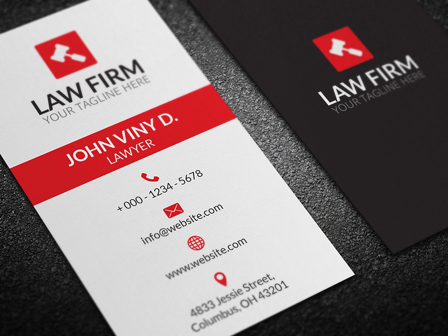 Law firm business card logoneed law firm business card colourmoves