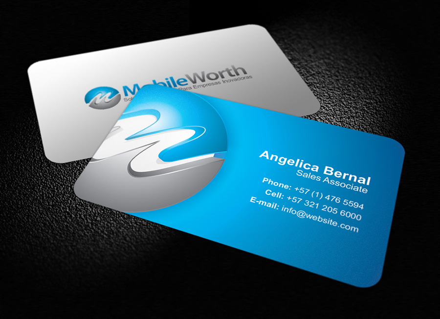 Mobile worth business card logoneed mobile worth business card colourmoves