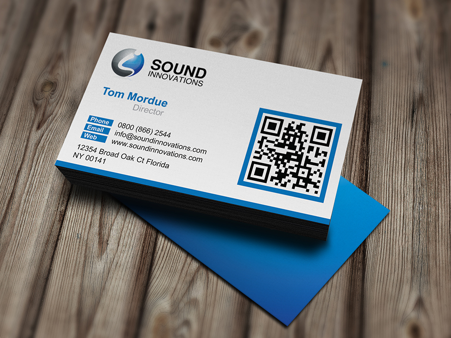 Sound Innovation Business Card | LogoNeed
